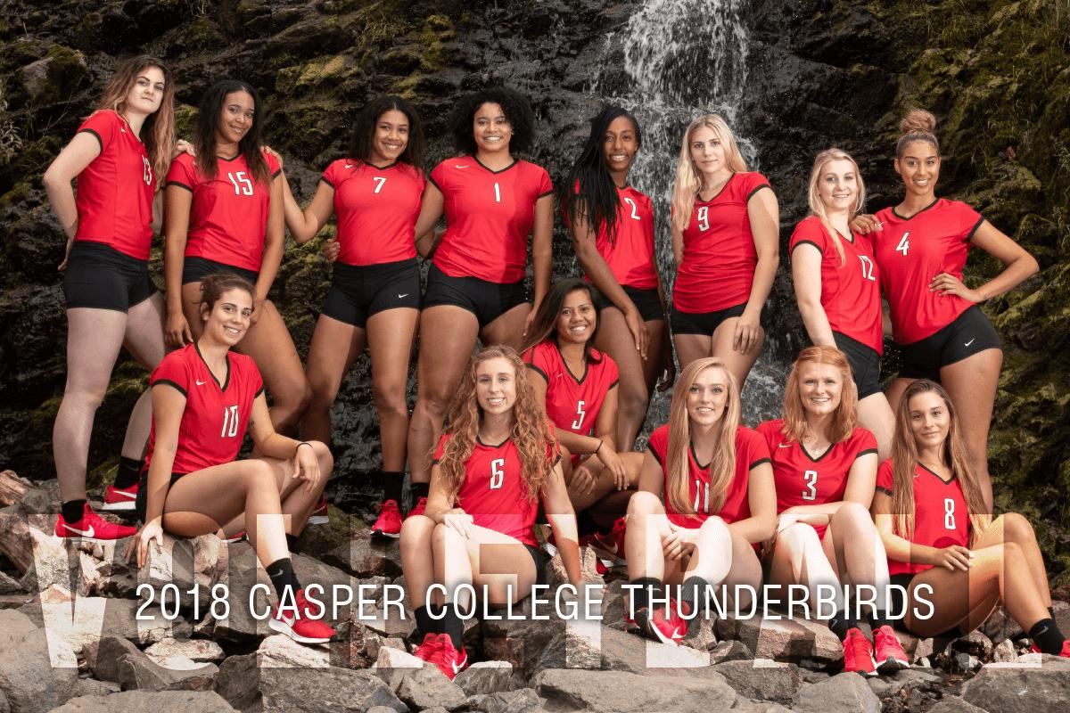 Photo of the 2018 Casper College Volleyball Team.