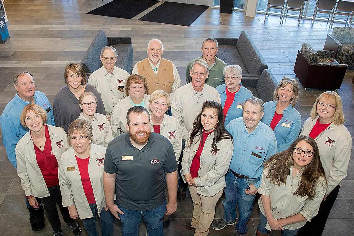 Photo of recent CC alumni board member and staff.