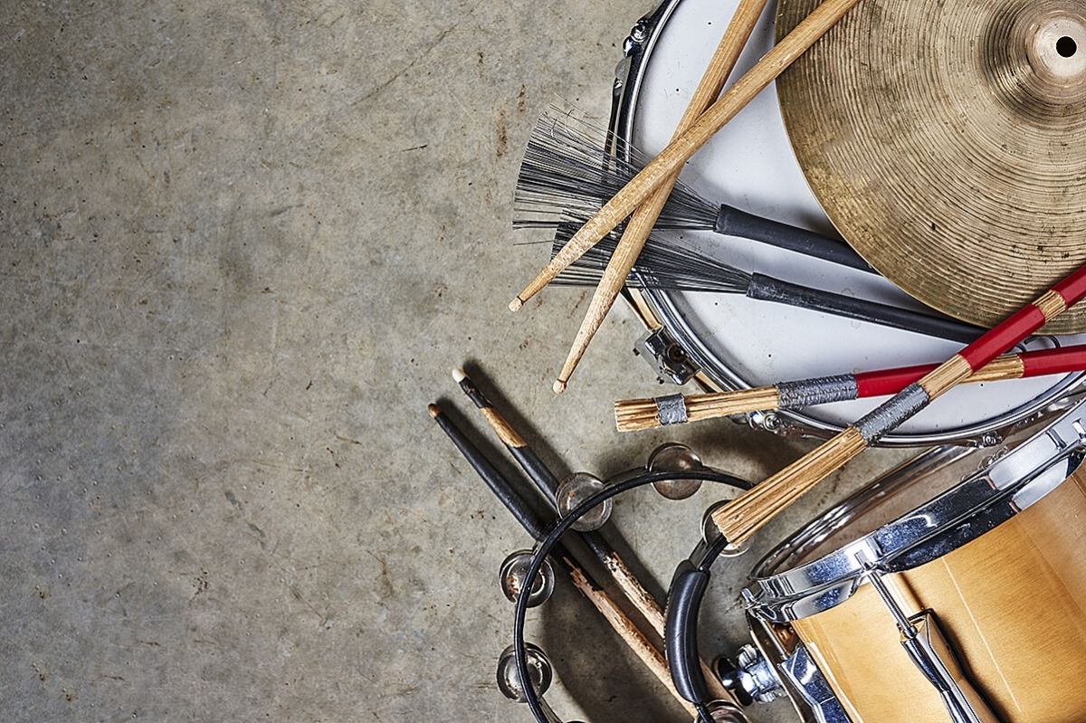 Photo of percussion instruments.