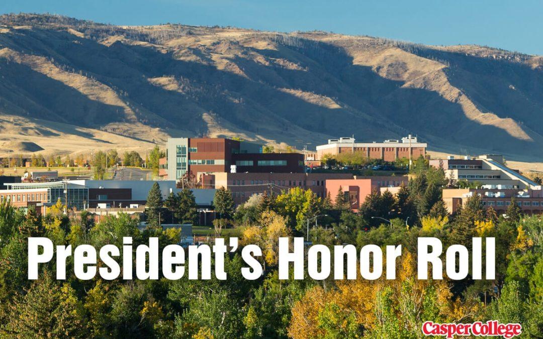 2019 Fall President's Honor Roll at Casper College announced