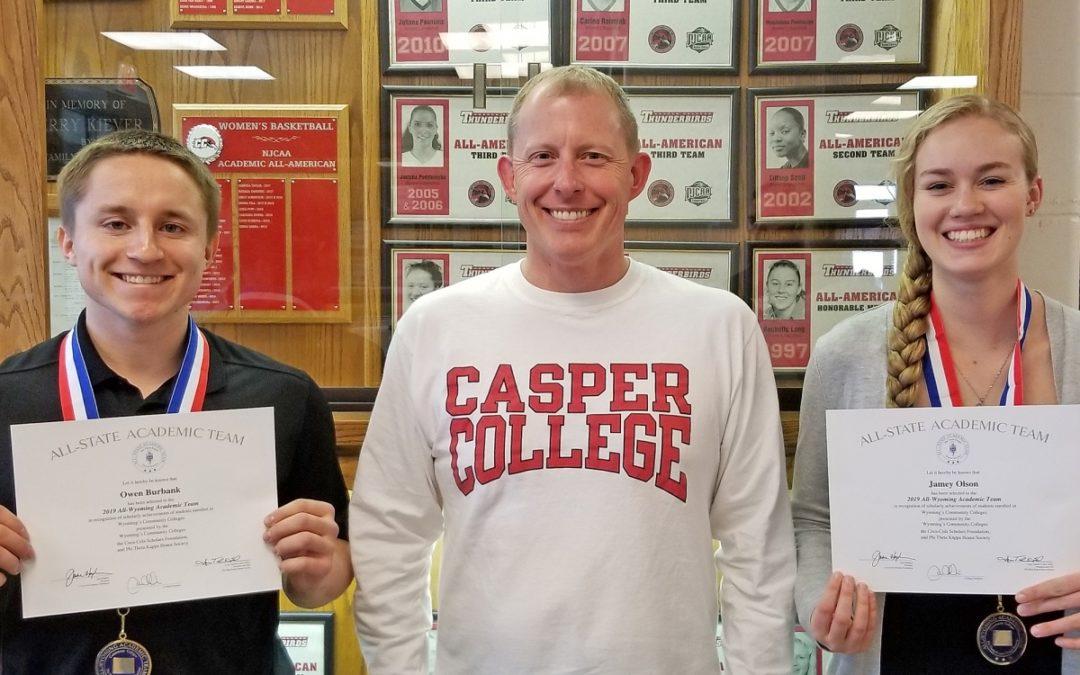 Casper College Students Nominated to 2019 Academic Team