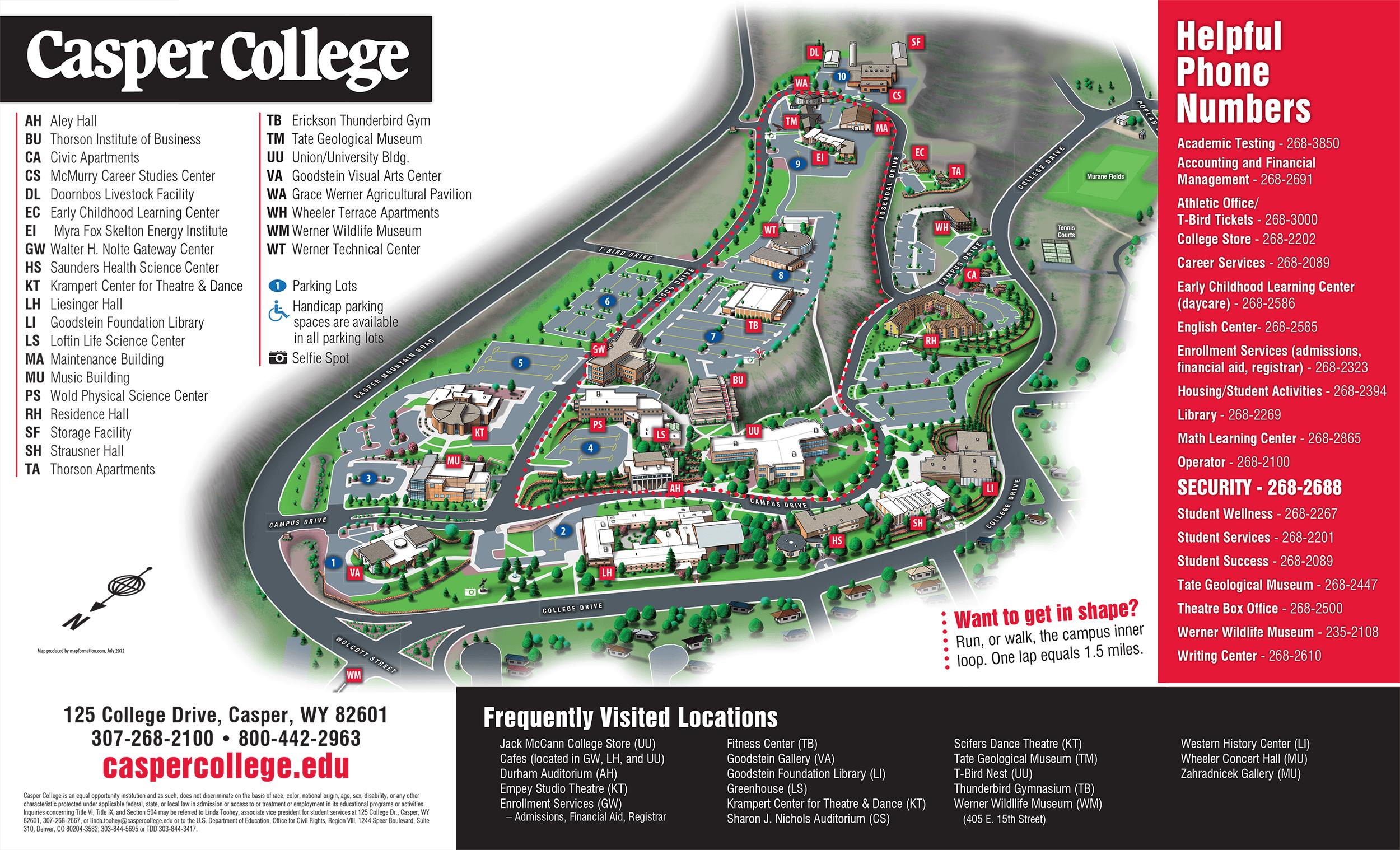 Maps & Directions - Casper College