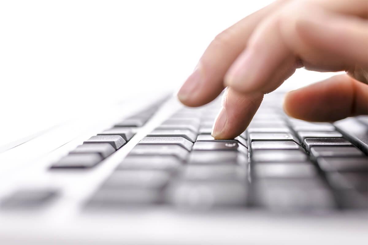Photo of computer keyboard.