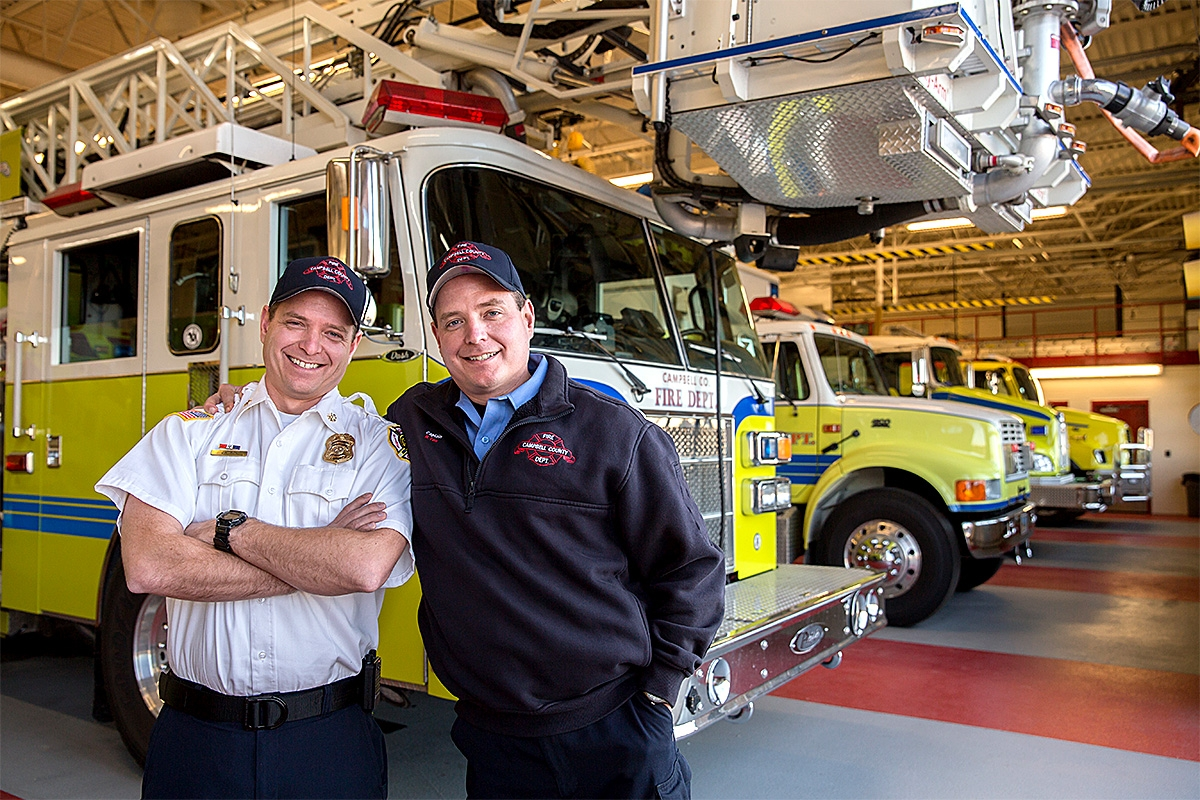 Firefighting brothers Ryan and J.R. Fox graduated from the Casper College Fire Science program.