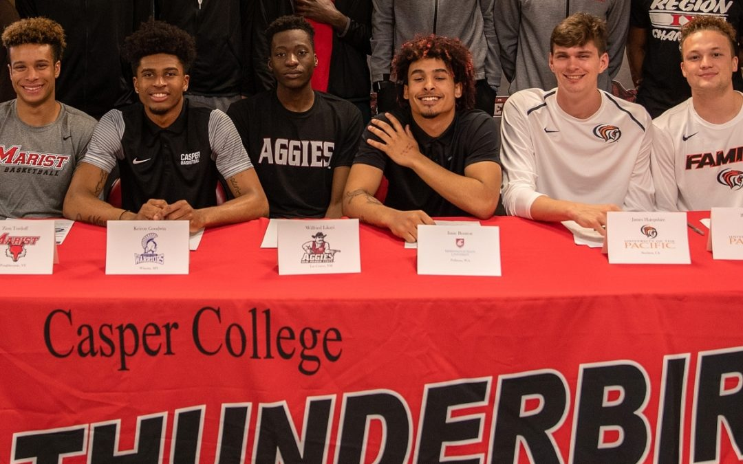 Six Thunderbirds Sign Letters of Intent