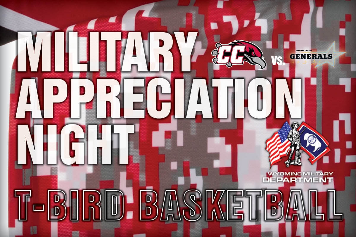 """The Casper College basketball teams will celebrate veterans with a special """"Military Appreciation Night"""" on Wednesday, Feb. 21."""