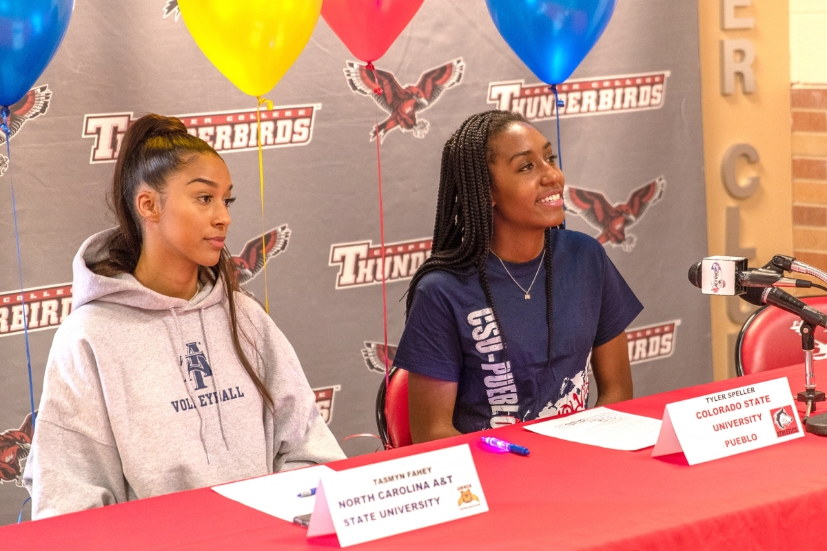 Photo for volleyball press release.