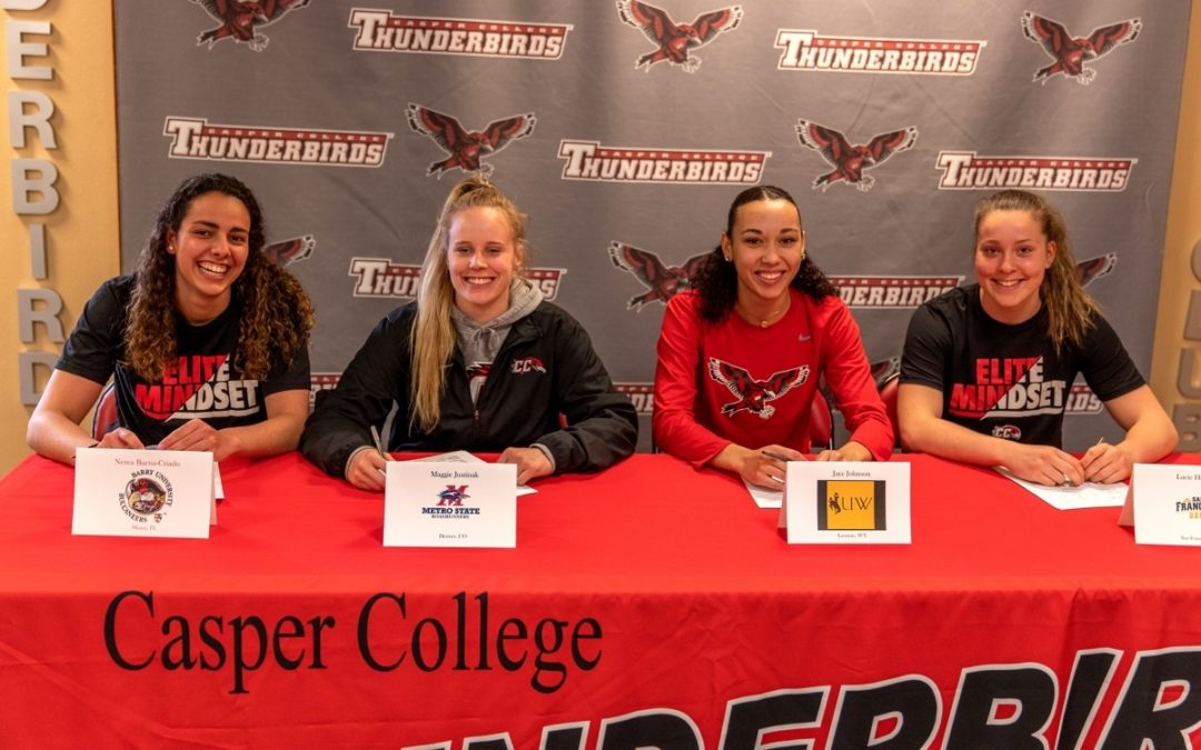 Four Lady T-Birds Commit to Next Level
