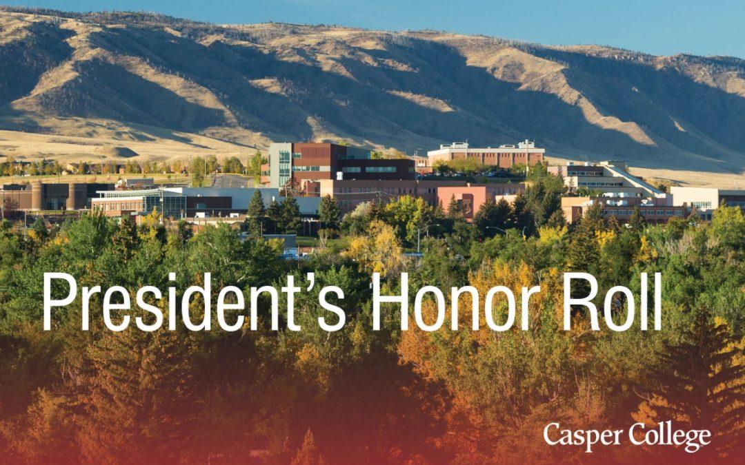 2020 spring President's Honor Roll at Casper College announced