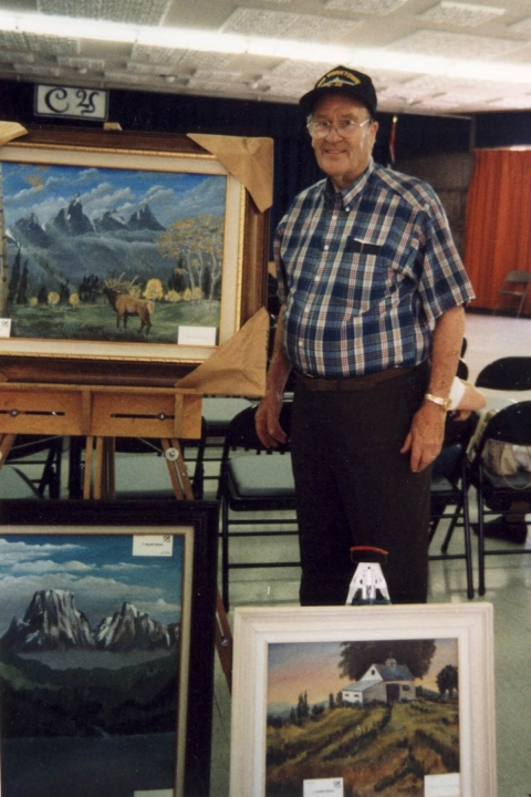 Wendell Culbertson and three paintings