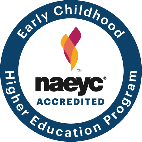 seal for NAEYC accredited early childhood higher education program