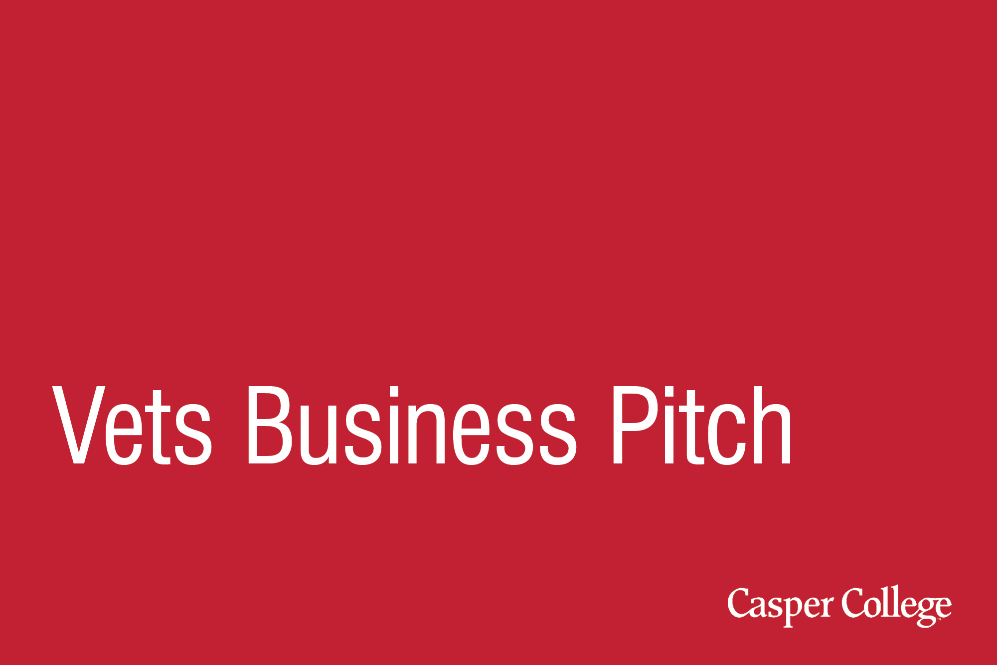 red background with the words Vets Business Pitch