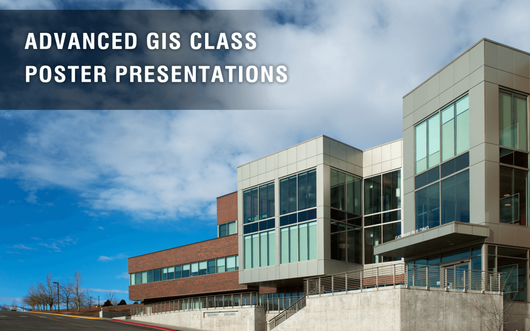Advanced GIS poster presentations open to public