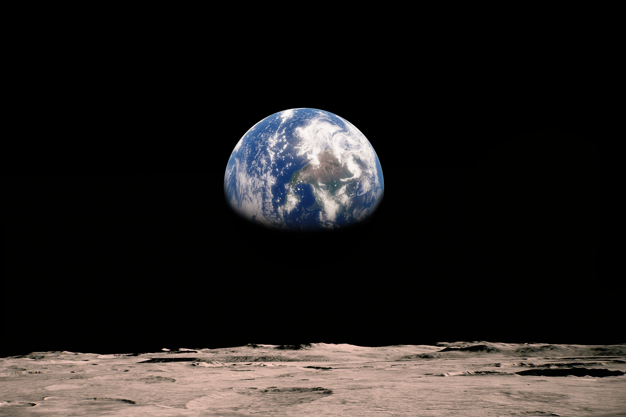 Photo of the earth taken from the moon.