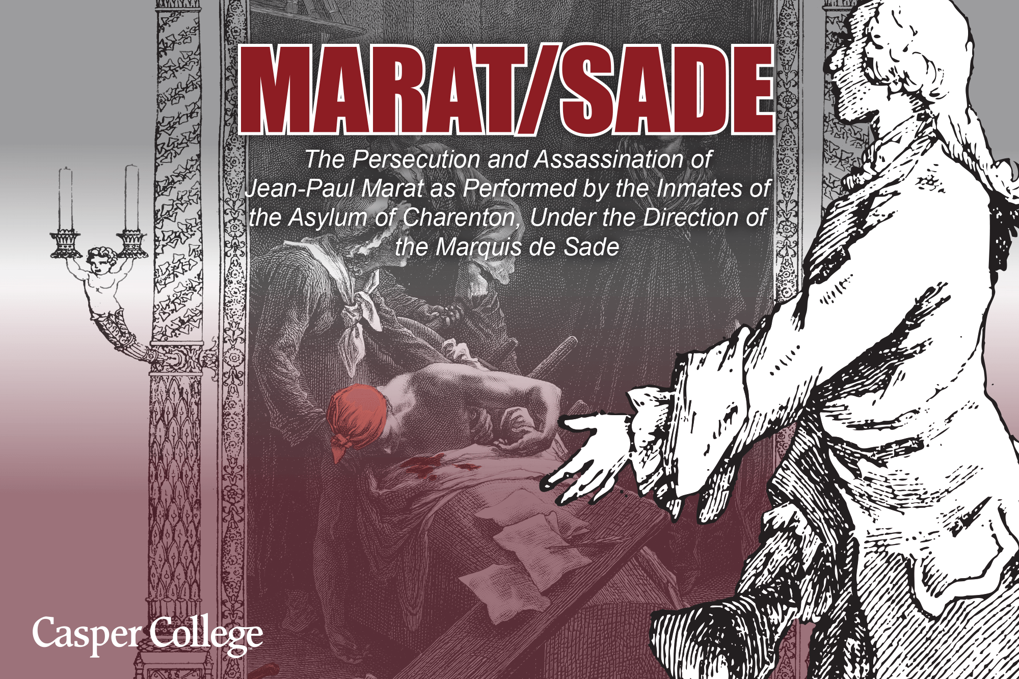 """Image of a poster for the play """"Marat/Sade."""""""