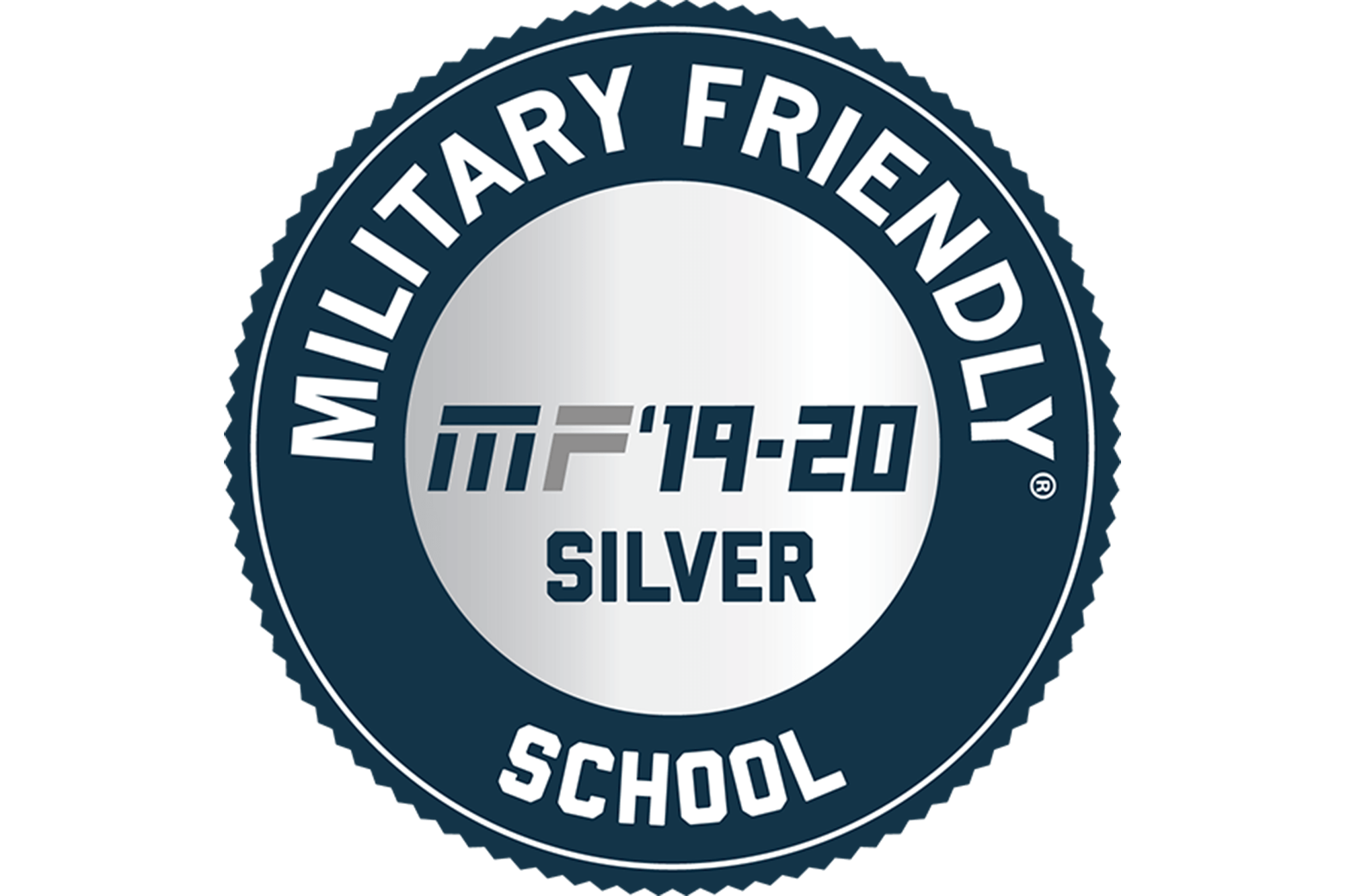 Image of the Military Friendly silver school designation logo.
