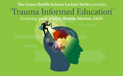 "Image to advertise ""Trauma Informed Education"" presentation."