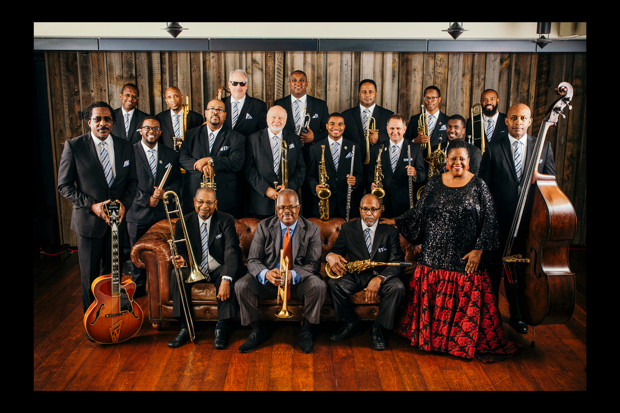 Photograph of The Count Basie Orchestra.