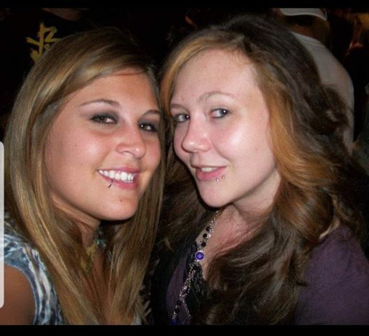 Ashley and Amanda in college