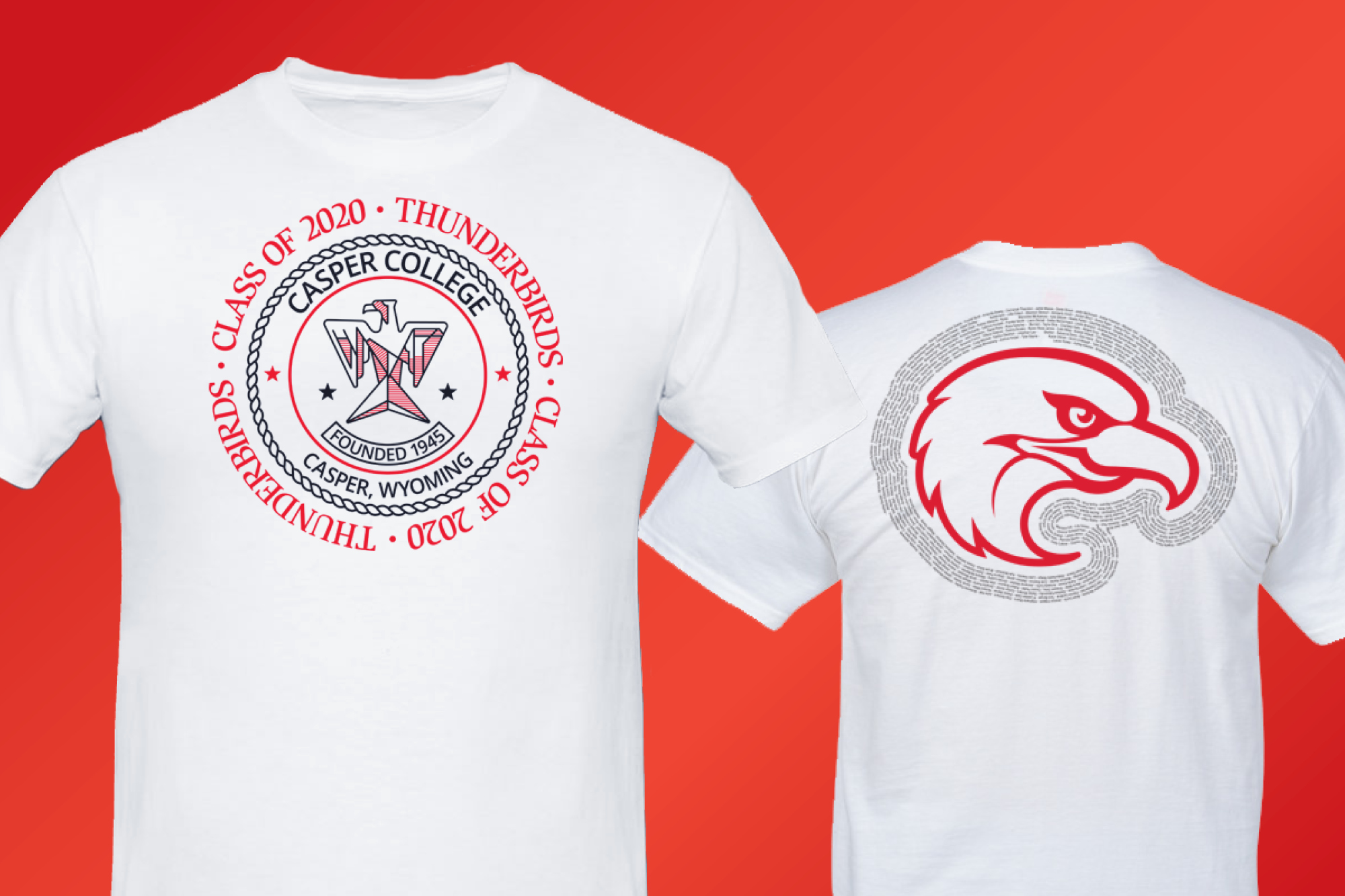 Photo of Casper College Graduation T-shirts.