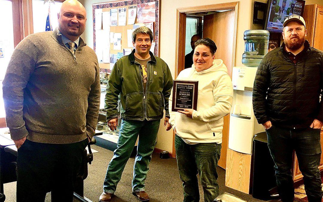 Rebecca Schuler named Student Veteran of the Year