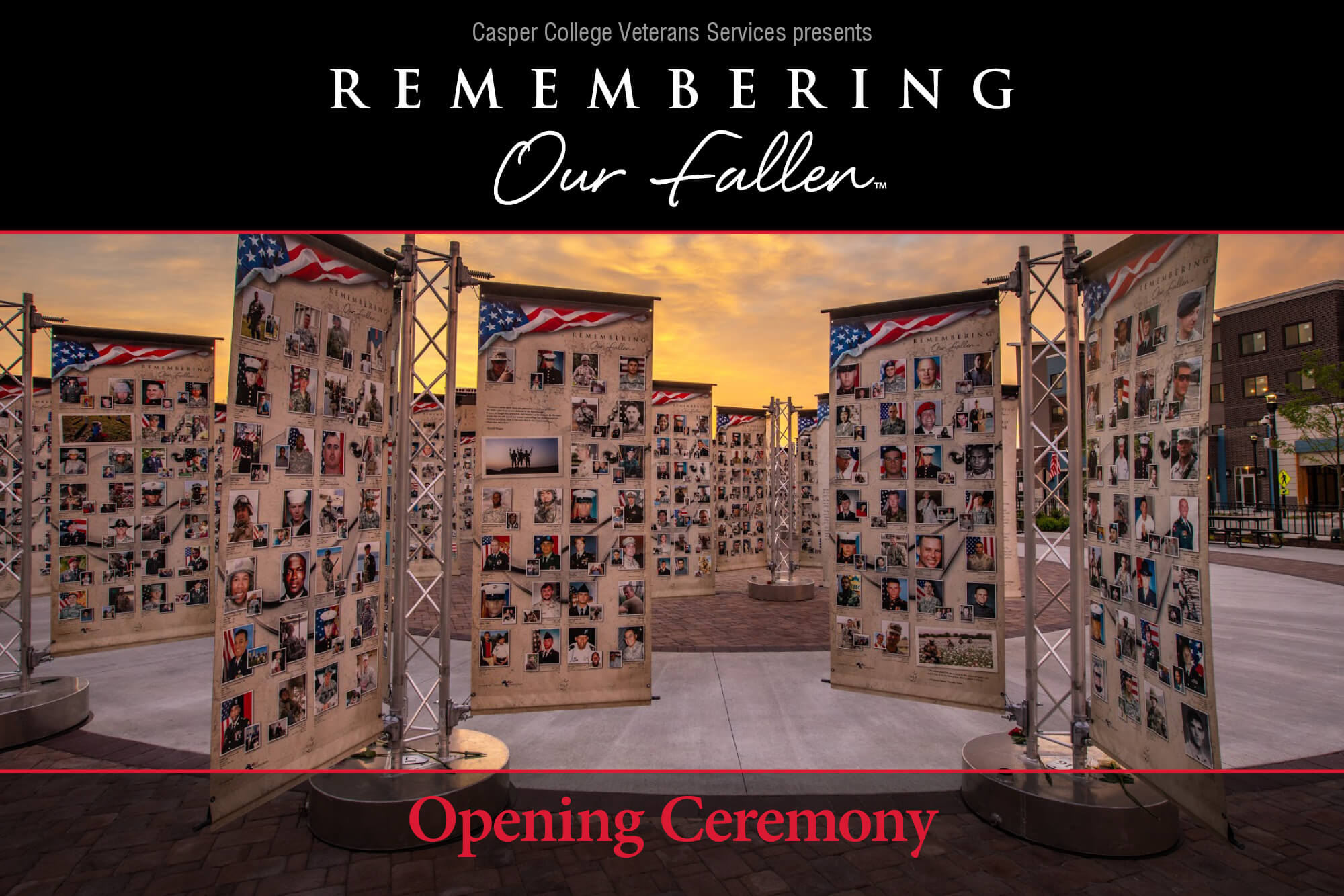 "Image for the opening ceremony for the ""National Remember Our Fallen Memorial."""