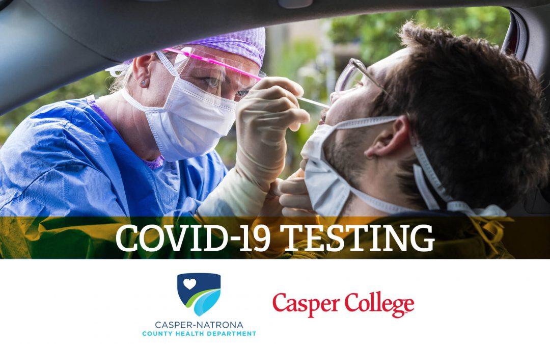 Casper-Natrona County Health Department and Casper College form partnership to expand COVID-19 testing locations in Casper
