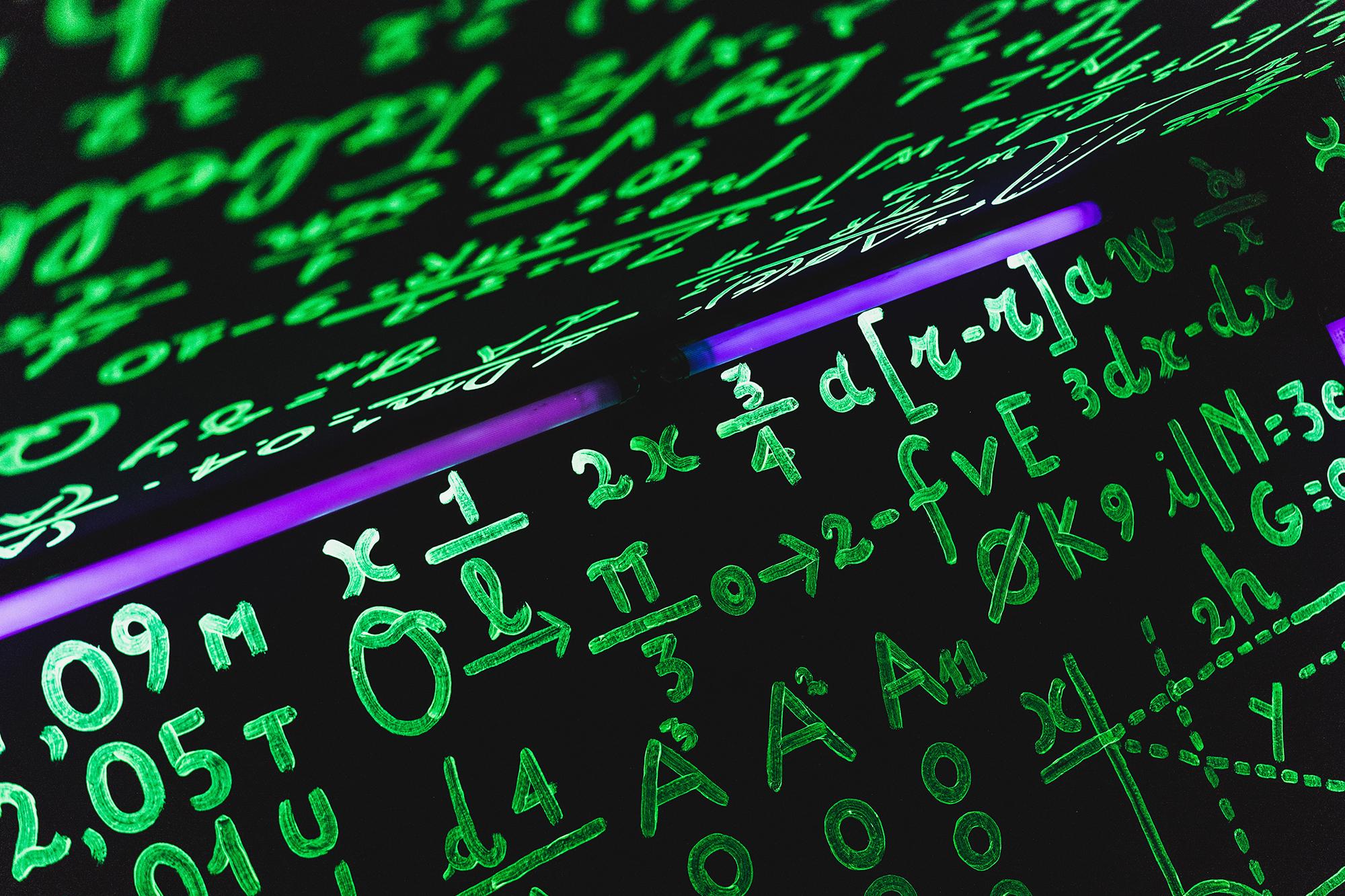 Photo of mathical formulas.
