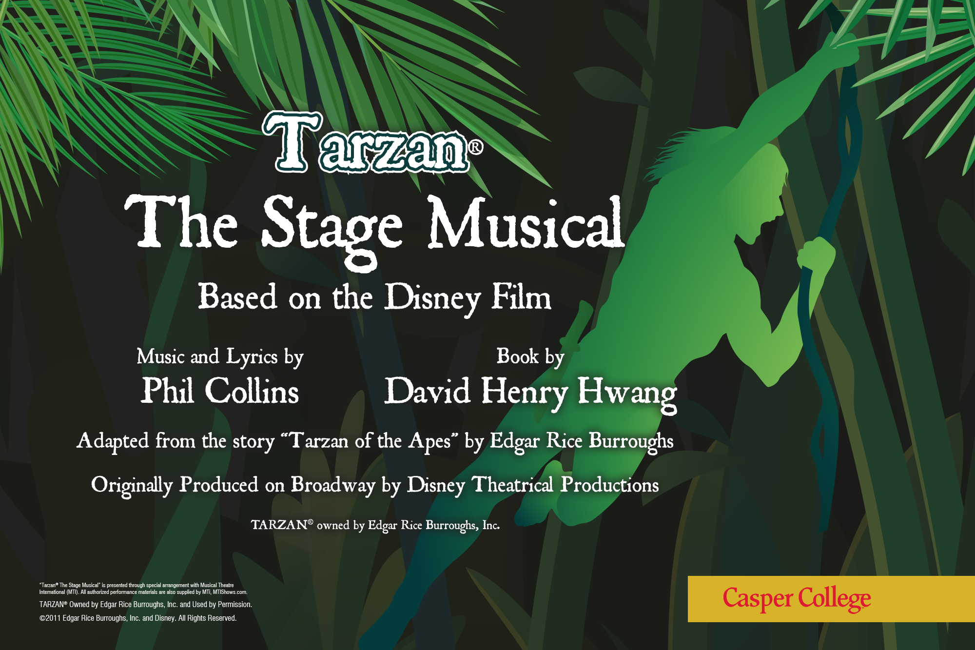 """Image from the poster for """"Tarzan The State Musical."""""""
