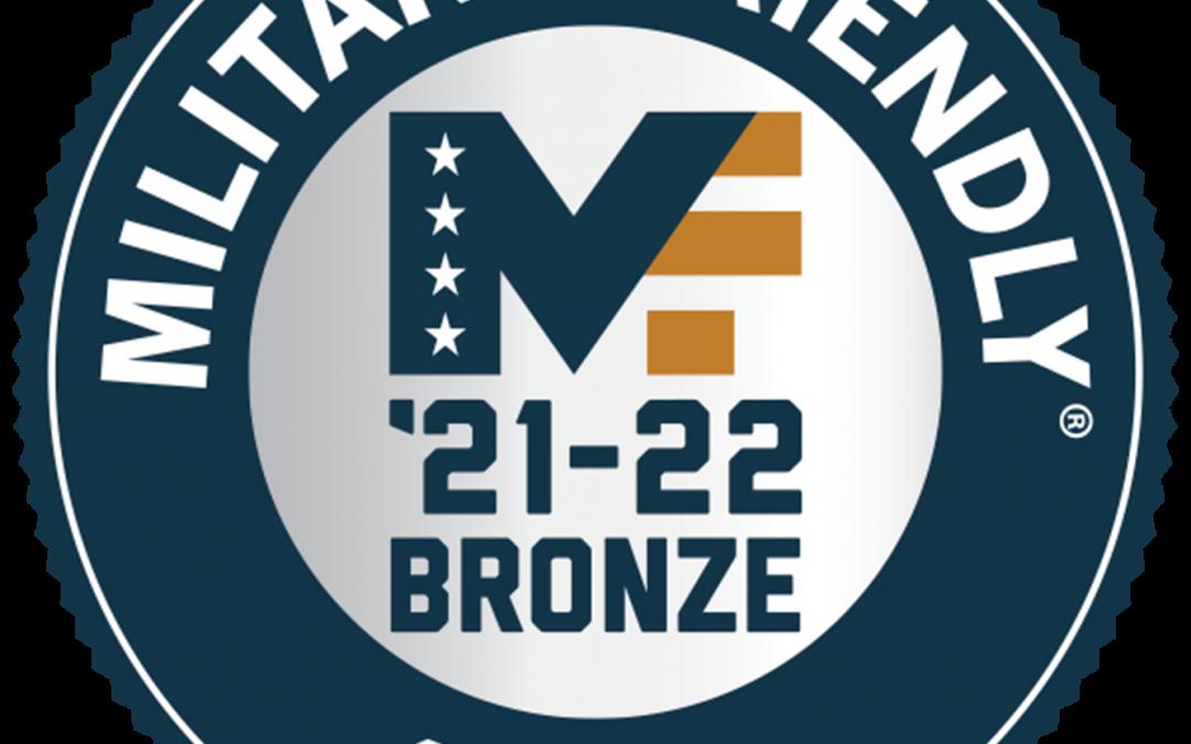 Casper College 2021-2022 Military Friendly Bronze school
