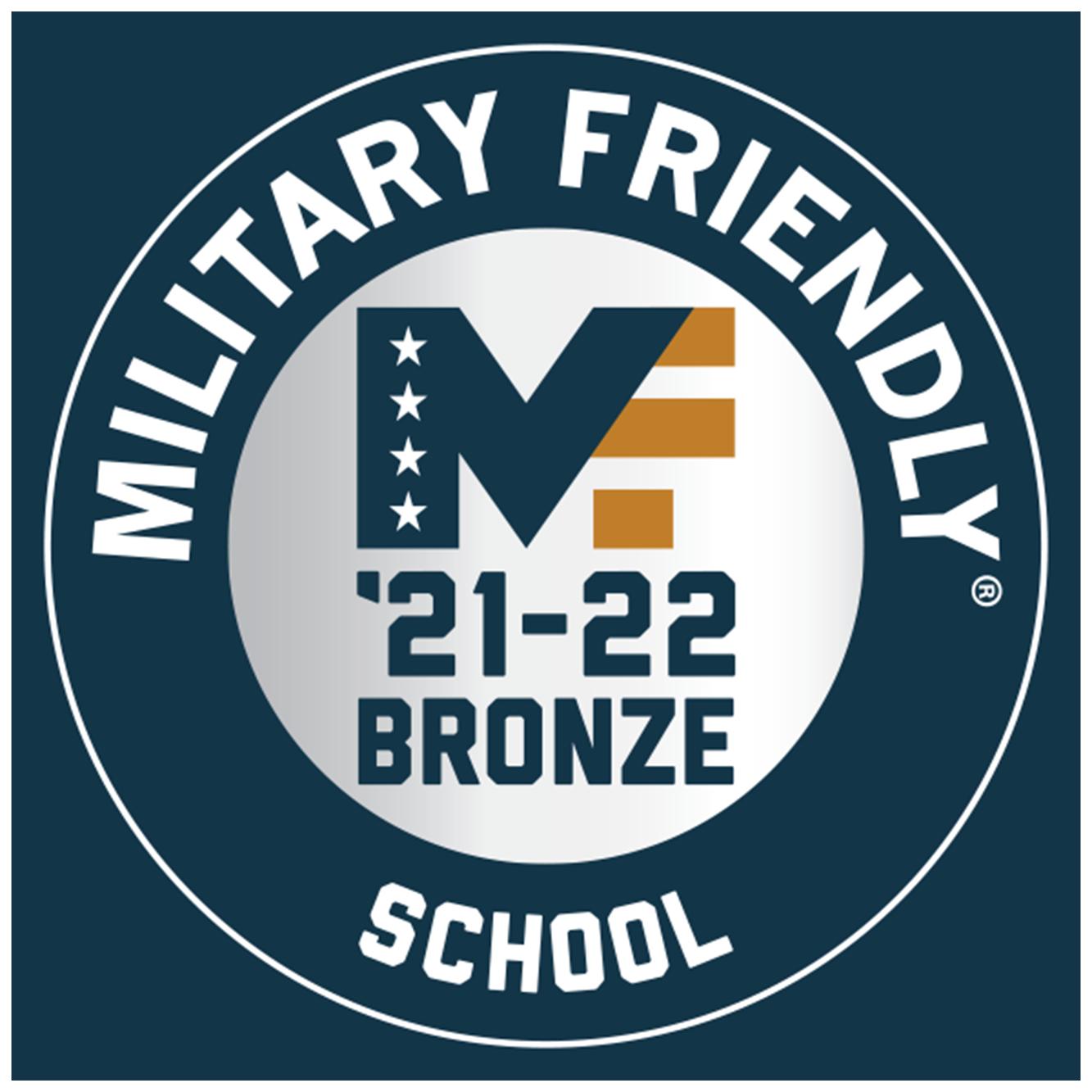 Military Friendly School Bronze logo.