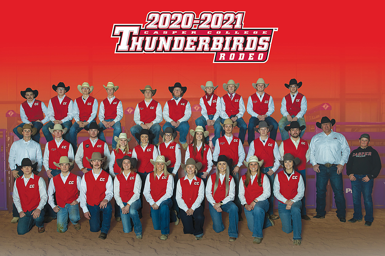 Photo of the 2020-2021 Casper College Rodeo team.