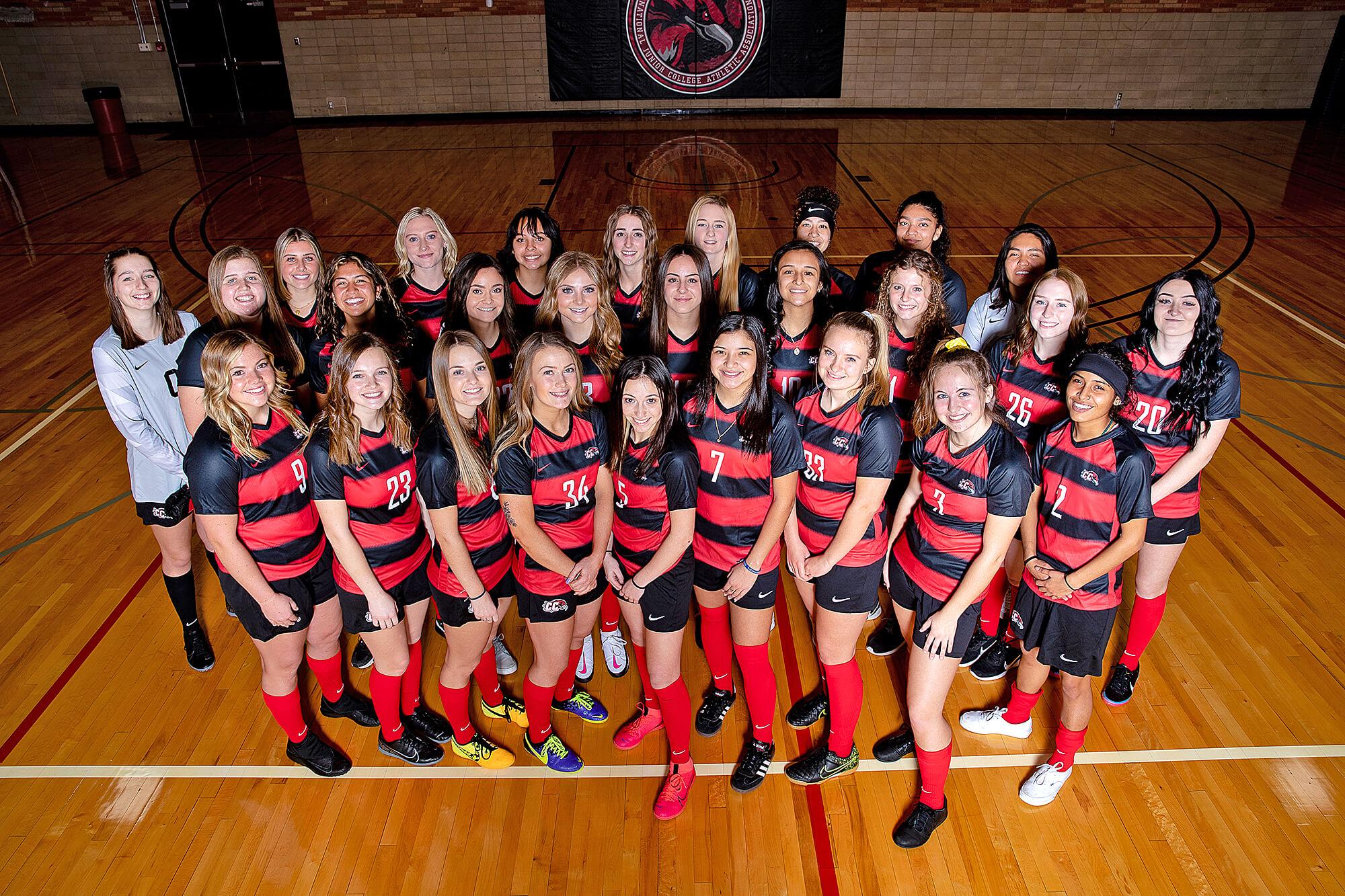 Photo of the Casper College Women's Soccer team.