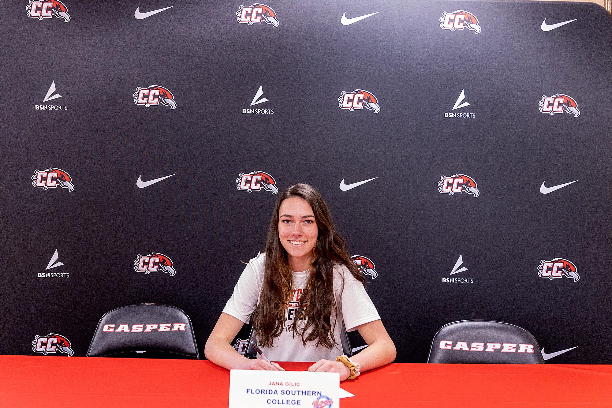 Photo of Casper College Volleyball team member Jana Gilic.