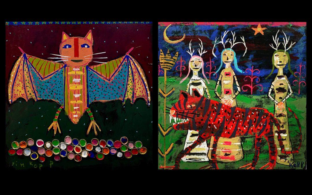 Folk and outsider artist Kopp's works at Zahradnicek Gallery