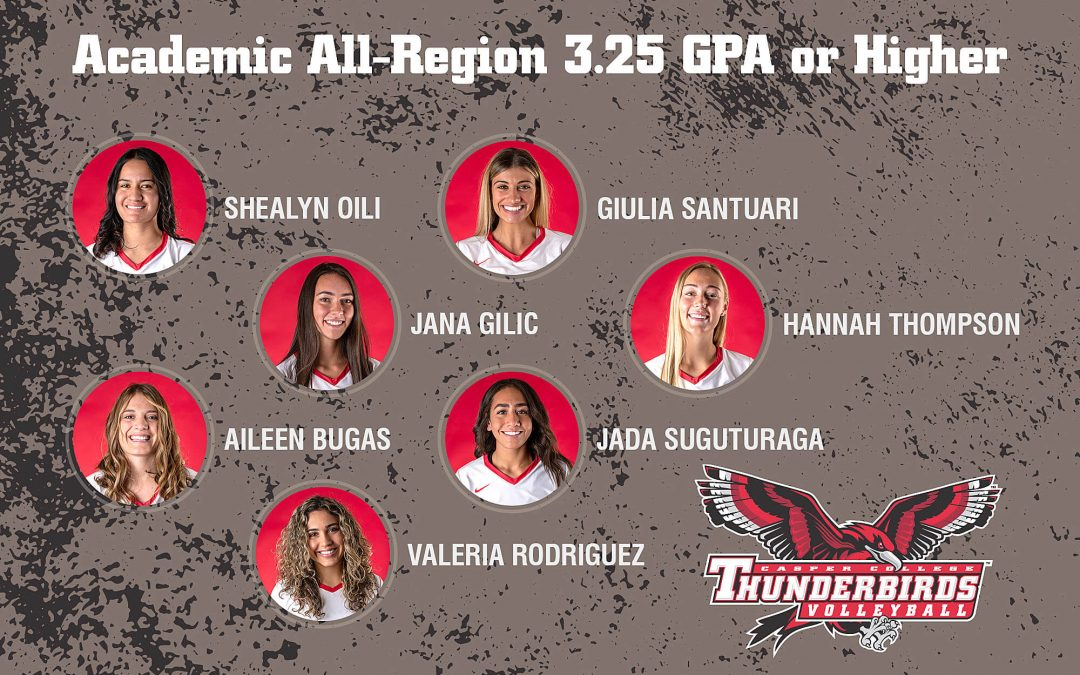 T-Bird Volleyball players recognized for academic performance