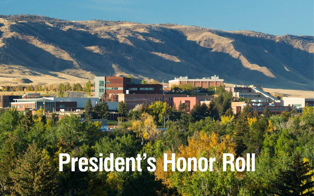 2021 spring President's Honor Roll at Casper College announced