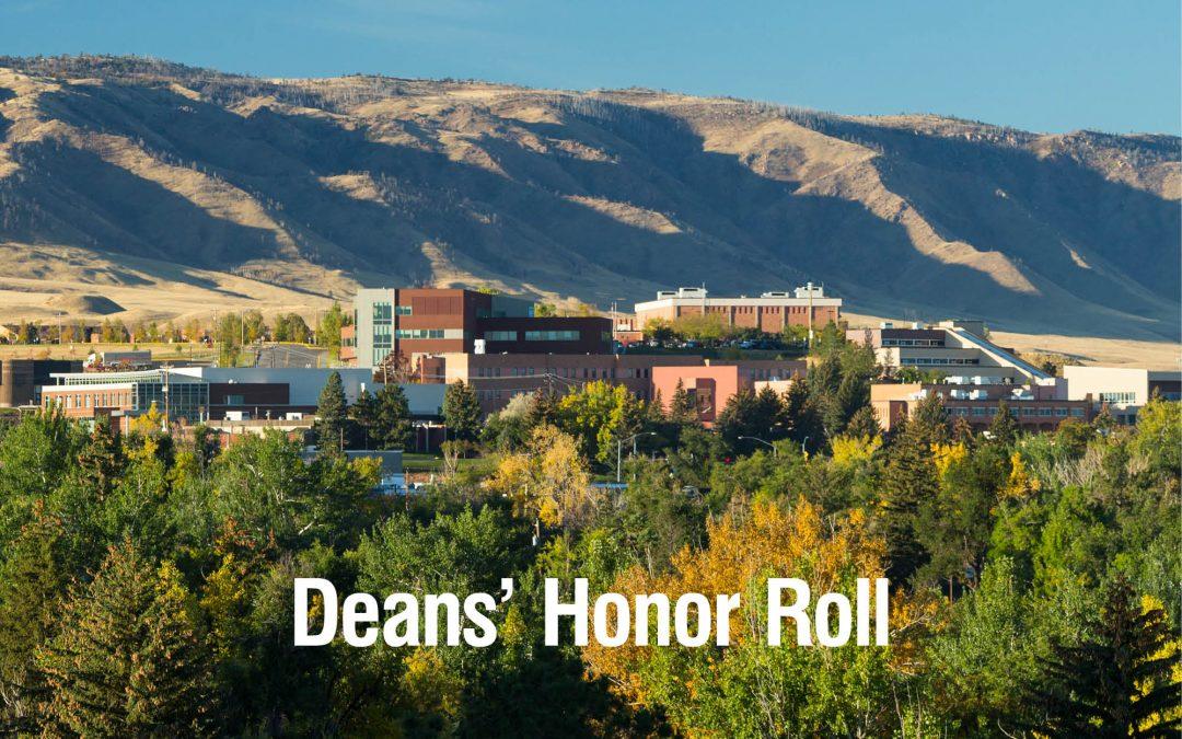 Spring 2021 Dean's Honor Roll at Casper College announced