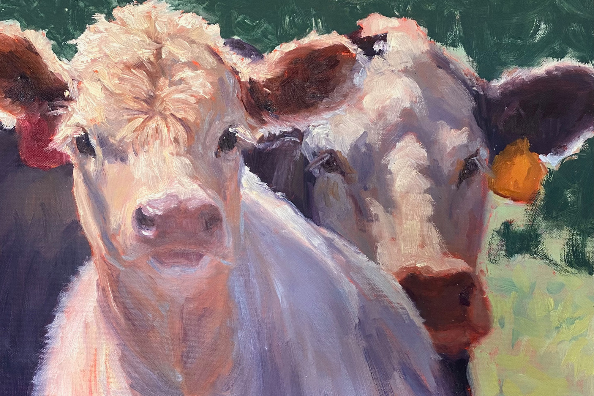 Painting of cows.