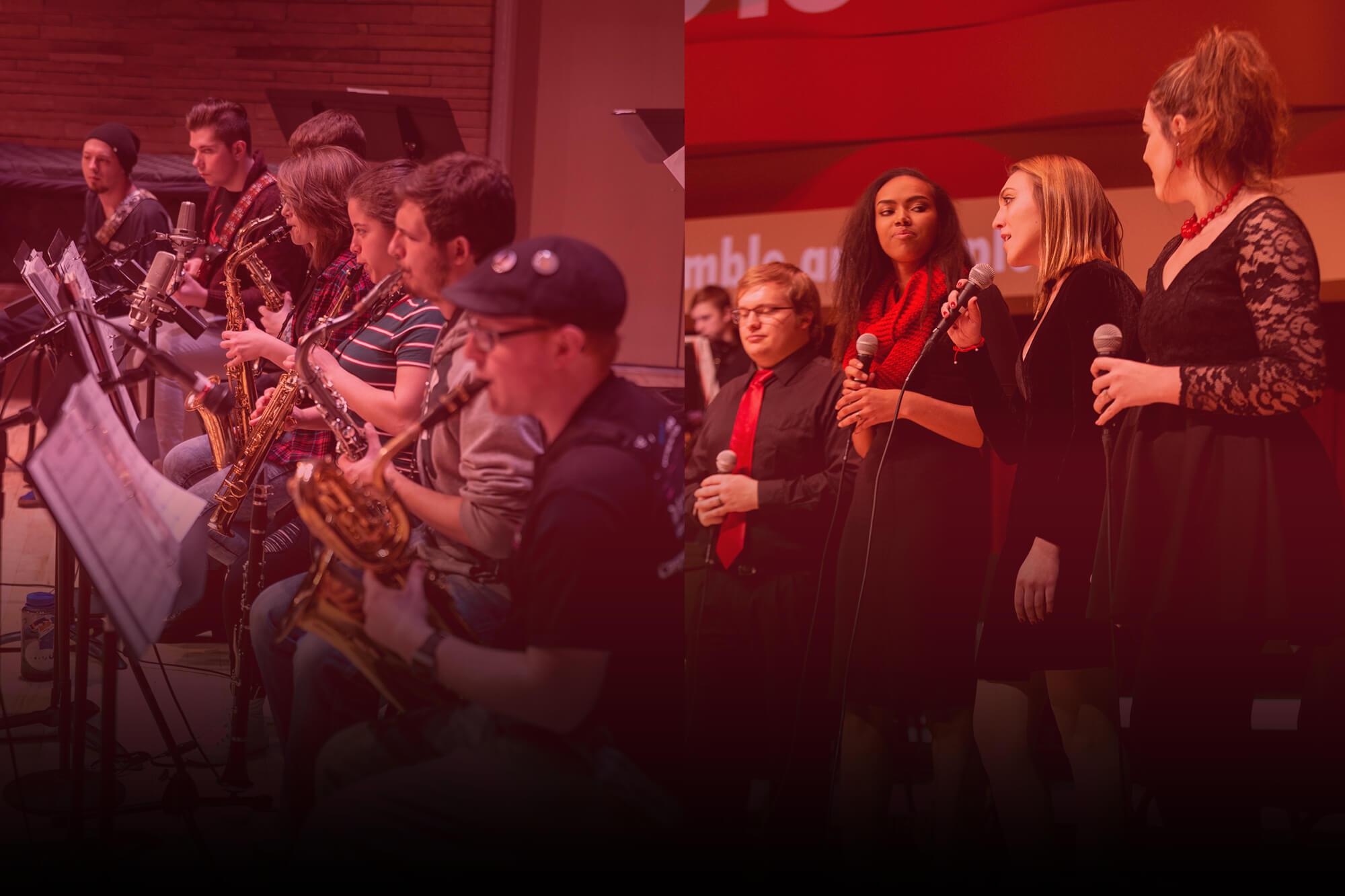 Photo of unidentified Casper College music students.