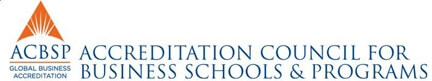 Logo for Accreditation Council for Business Schools & Programs